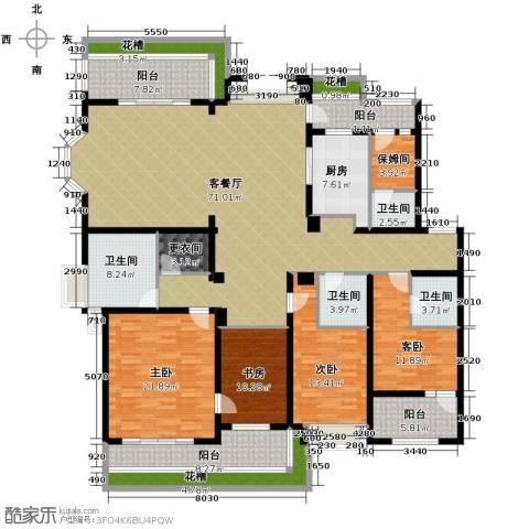 天正滨江4室1厅4卫1厨226.00㎡户型图