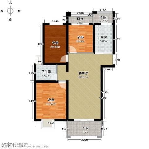 凤凰和美3室1厅1卫1厨118.00㎡户型图