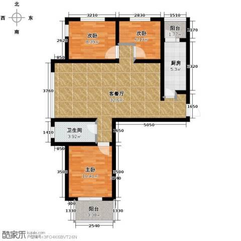 御景阁3室2厅1卫0厨111.00㎡户型图