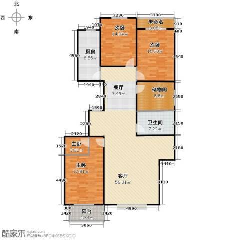 居美颐园4室1厅1卫1厨169.00㎡户型图