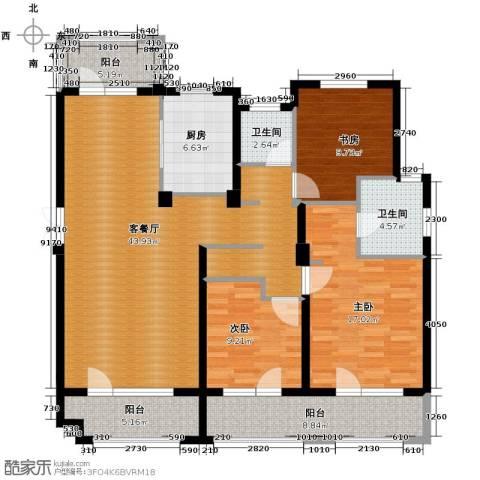 朗诗保利麓院3室2厅2卫0厨138.00㎡户型图