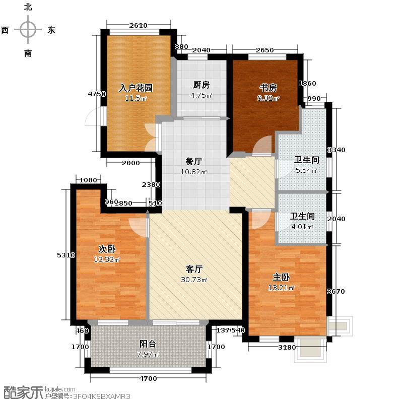 国仕山113.80㎡H-231114标准层户型10室