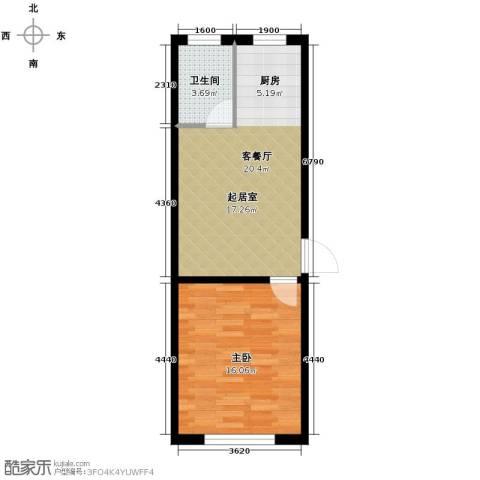 西域明珠1室1厅1卫0厨57.00㎡户型图