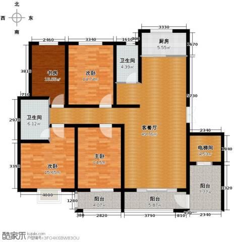领世郡4室2厅2卫0厨169.00㎡户型图
