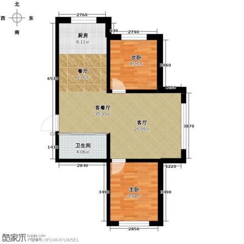 西域明珠2室1厅1卫0厨67.00㎡户型图