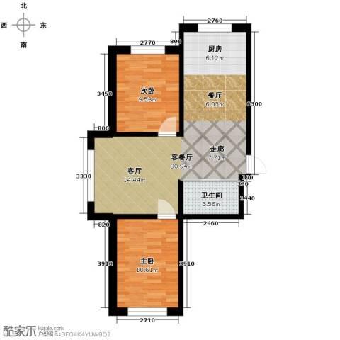 西域明珠2室1厅1卫0厨73.00㎡户型图
