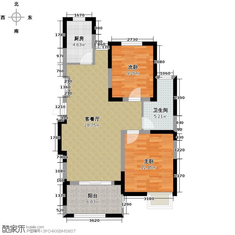 中电颐和家园86.00㎡A户型10室