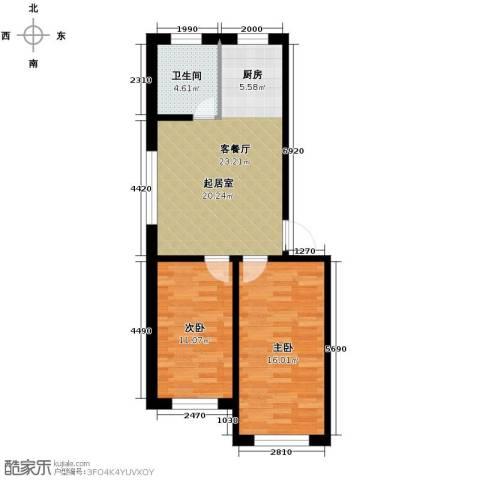 西域明珠2室1厅1卫0厨76.00㎡户型图