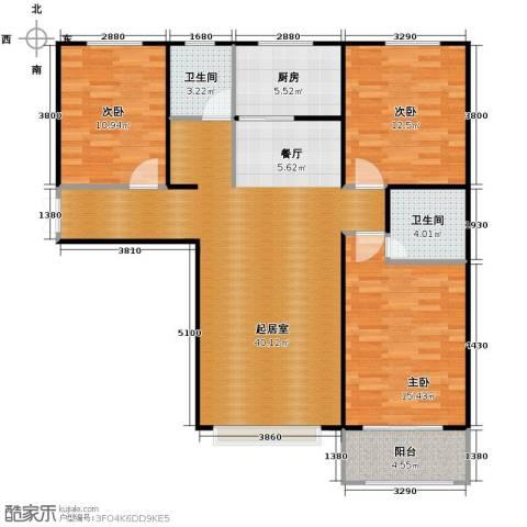 紫睿天和3室2厅2卫0厨128.00㎡户型图