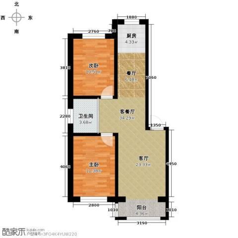 西域明珠2室1厅1卫0厨85.00㎡户型图