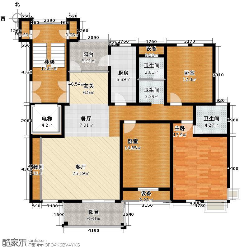 中豪天禄145.00㎡乙-3户型10室