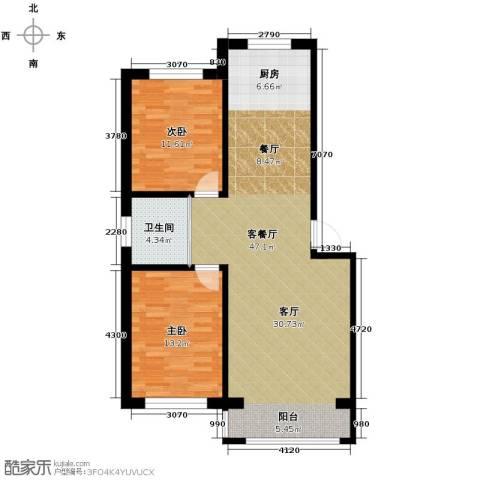 西域明珠2室1厅1卫0厨101.00㎡户型图