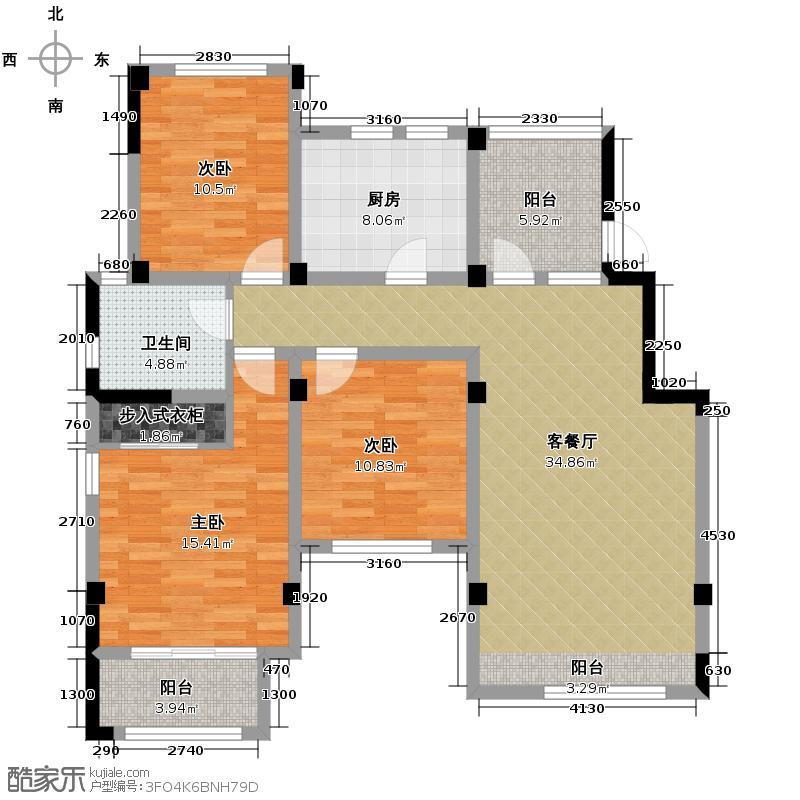 大地伊丽雅特湾111.22㎡四期19-20栋4层A户型10室