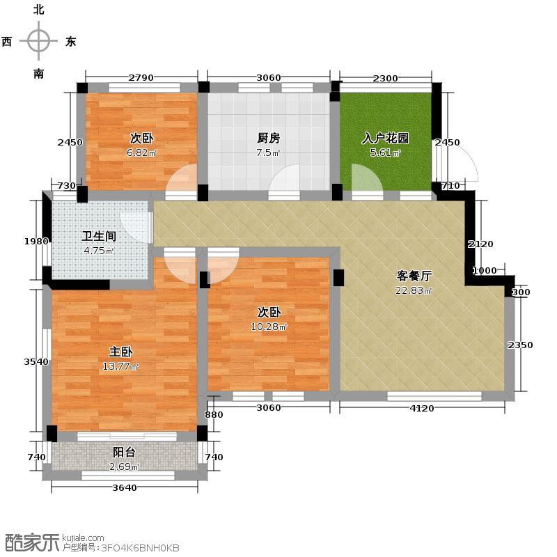 大地伊丽雅特湾87.11㎡四期19-20栋6层A户型10室
