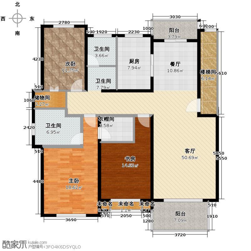天泽苑136.16㎡B3户型10室