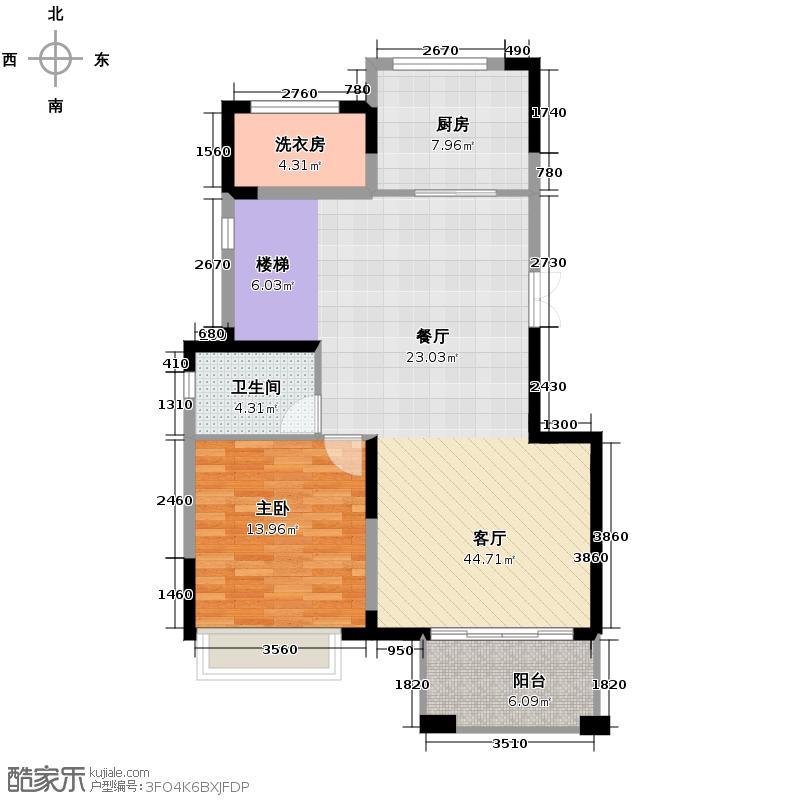 恒基九珑天誉260.00㎡一期复式别墅C1下层户型5室2厅3卫
