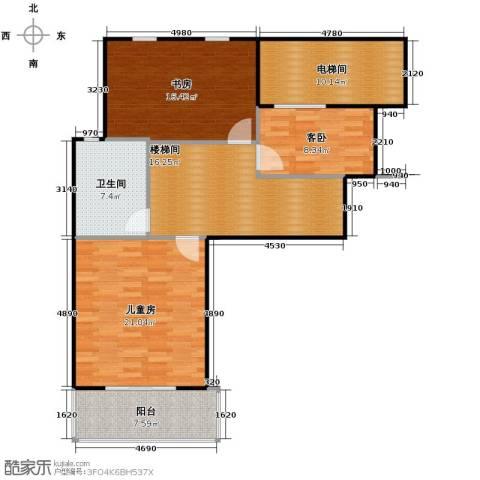 凤凰山庄3室0厅1卫0厨115.00㎡户型图