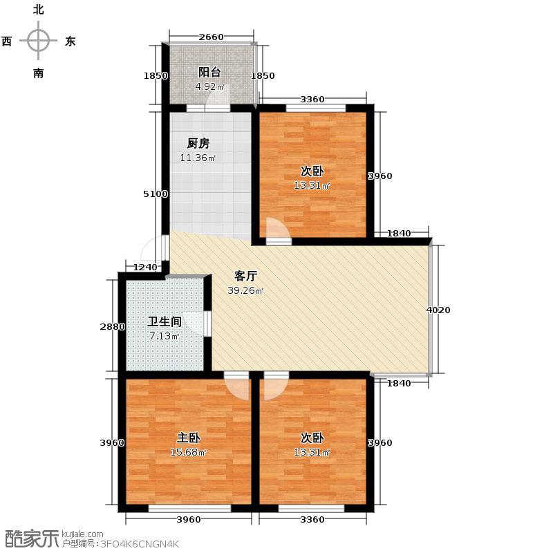 太平湖温泉小镇104.83㎡5-30户型3室1厅1卫