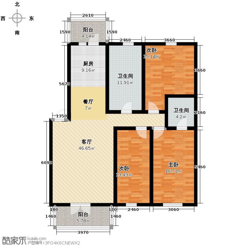 太平湖温泉小镇134.29㎡5-30户型3室1厅2卫