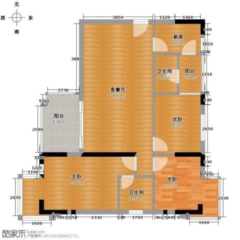 乐从国际3室1厅2卫1厨114.00㎡户型图