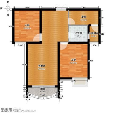 星河御城2室2厅1卫0厨101.00㎡户型图