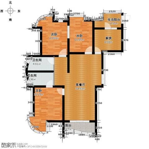 星河御城3室2厅2卫0厨141.00㎡户型图