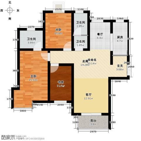 弘达明尚3室2厅2卫0厨140.00㎡户型图