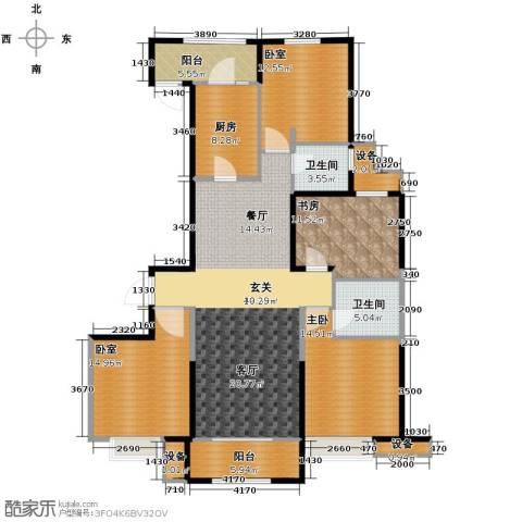 保利花园4室2厅2卫0厨161.00㎡户型图