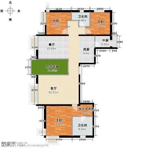 西美五洲天地3室2厅2卫0厨185.00㎡户型图
