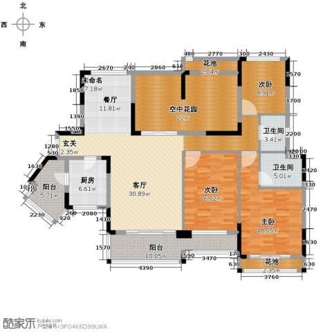 百合花园3室0厅2卫1厨210.00㎡户型图