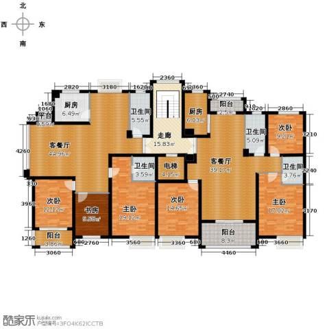 广景苑6室2厅4卫2厨330.00㎡户型图
