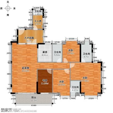 新境誉花园5室2厅4卫0厨164.15㎡户型图