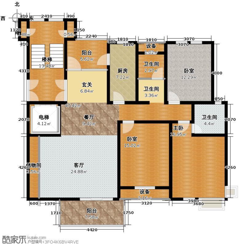 中豪天禄145.00㎡乙-3a户型10室