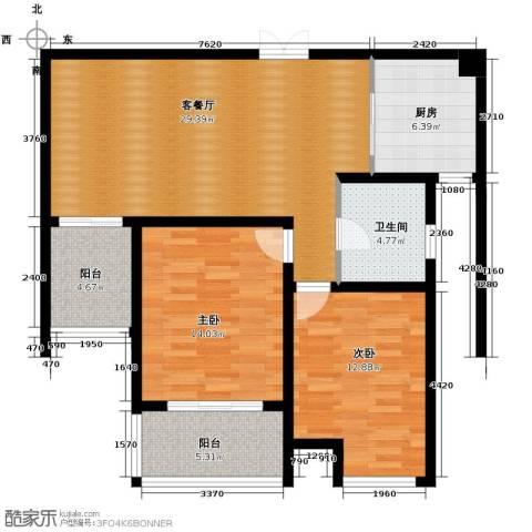 江雁mini格调89.00㎡户型图