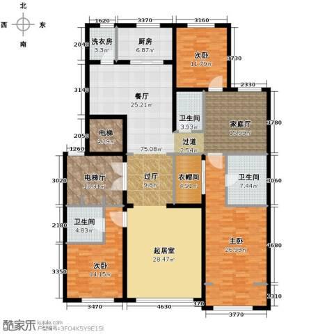 中海紫御华府3室3厅3卫0厨200.00㎡户型图