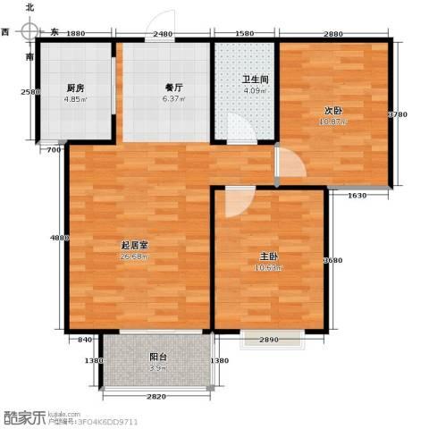 紫睿天和2室2厅1卫0厨83.00㎡户型图