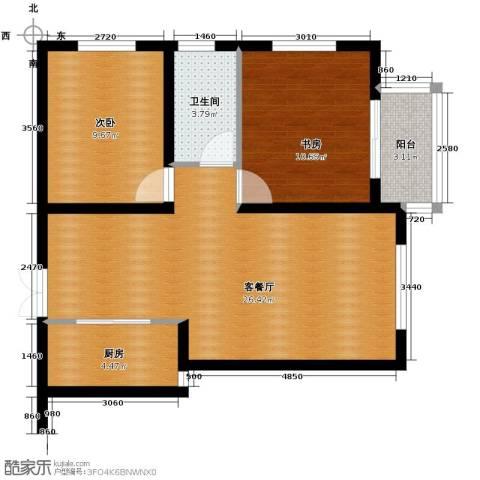 橙悦城2室2厅1卫0厨82.00㎡户型图