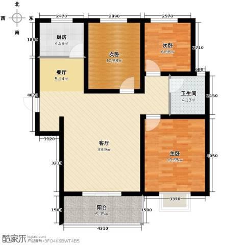 京海铭筑113.00㎡户型图