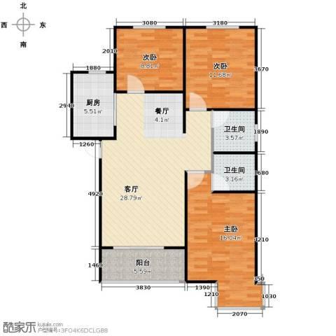 绿朗时光3室2厅2卫0厨121.00㎡户型图