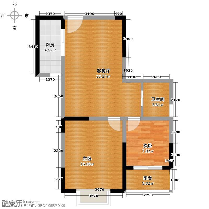 郑和国际广场70.04㎡01栋06-27层D套户型10室