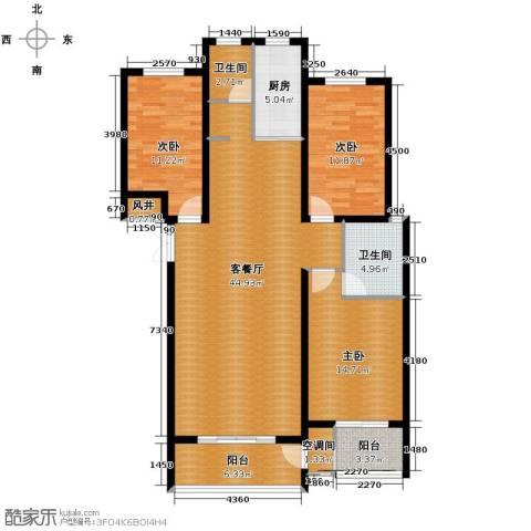 橙悦城3室2厅1卫0厨139.00㎡户型图