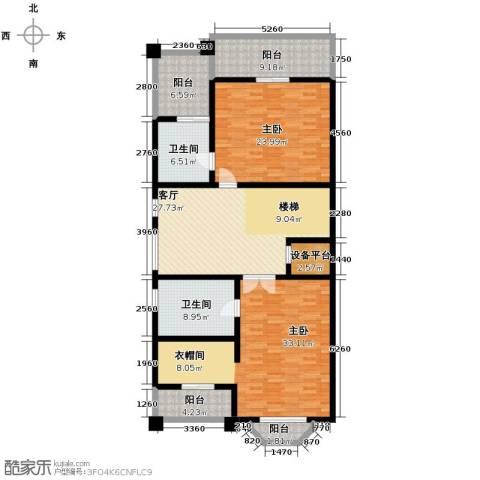汇锦庄园3室1厅2卫0厨142.31㎡户型图