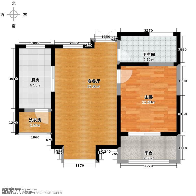 �灞半岛68.00㎡A-1该A5组团内11层或者18层建中内户型10室