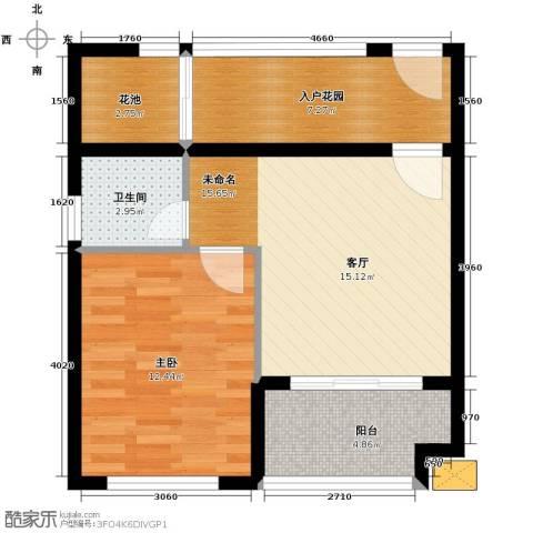 海泽雅居1室0厅1卫0厨49.00㎡户型图