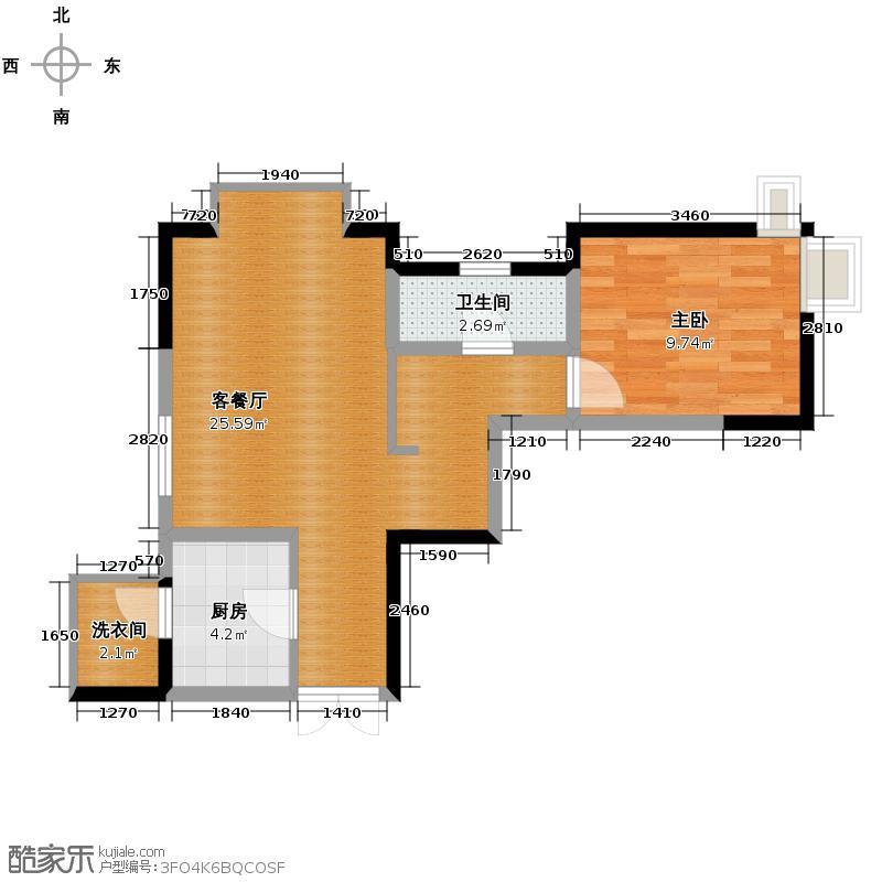 �灞半岛48.00㎡户型10室