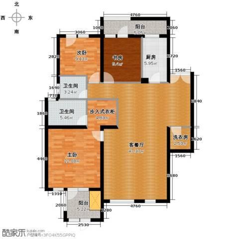 领秀新硅谷3室1厅2卫1厨162.00㎡户型图