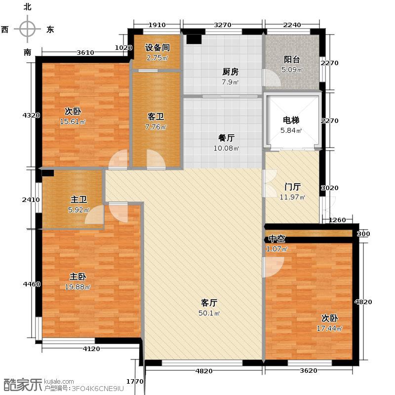汇锦庄园178.00㎡G2G3户型3室2厅2卫