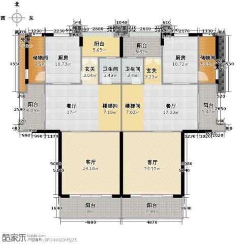 富力红树湾5室3厅5卫0厨240.00㎡户型图