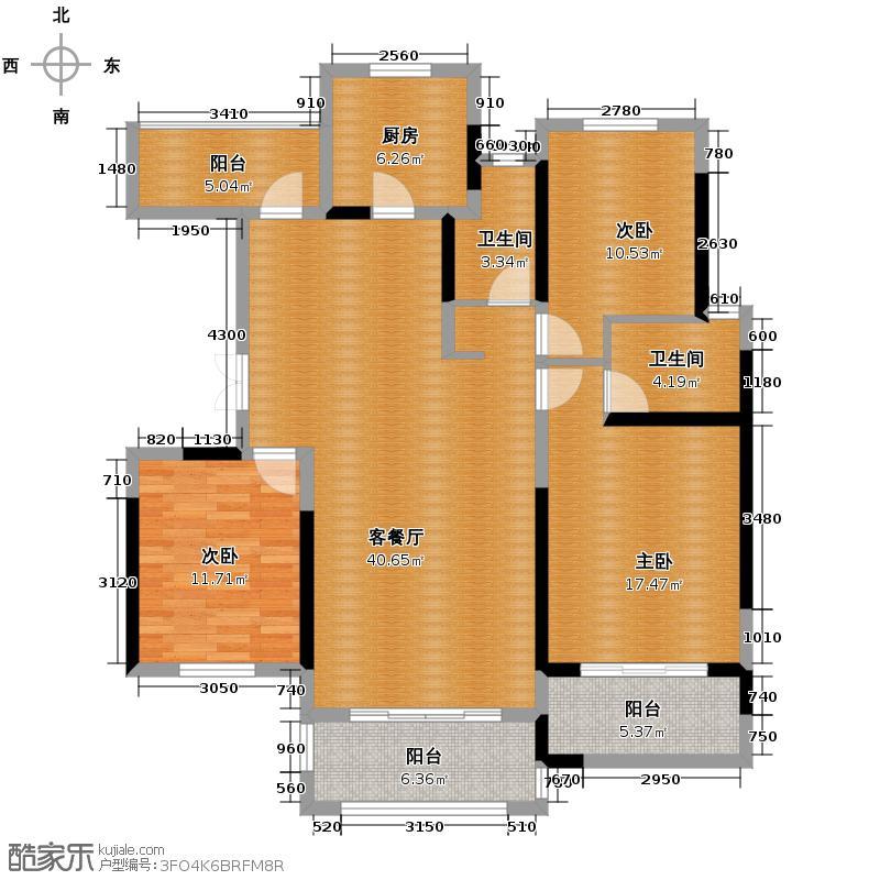 紫金东郡126.80㎡13#30户型10室