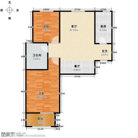 百岛绿城2室2厅1卫0厨103.00㎡户型图